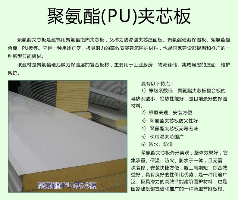 聚氨酯PU夾芯板