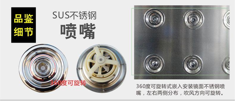 360旋轉噴嘴-自動感應移門風淋室-無錫一凈