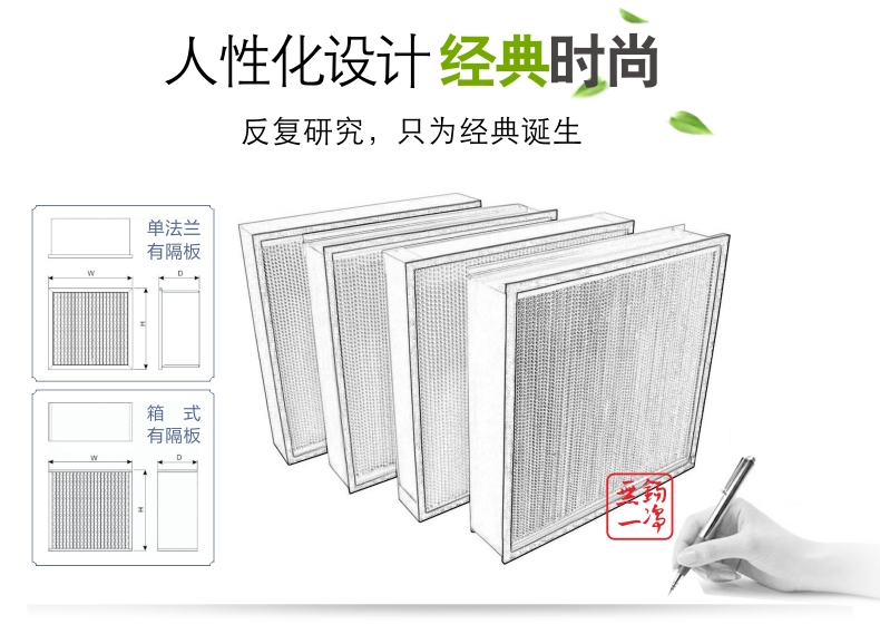 無錫一凈 有隔板高效過濾器 過濾器 高效過濾器 過濾網2