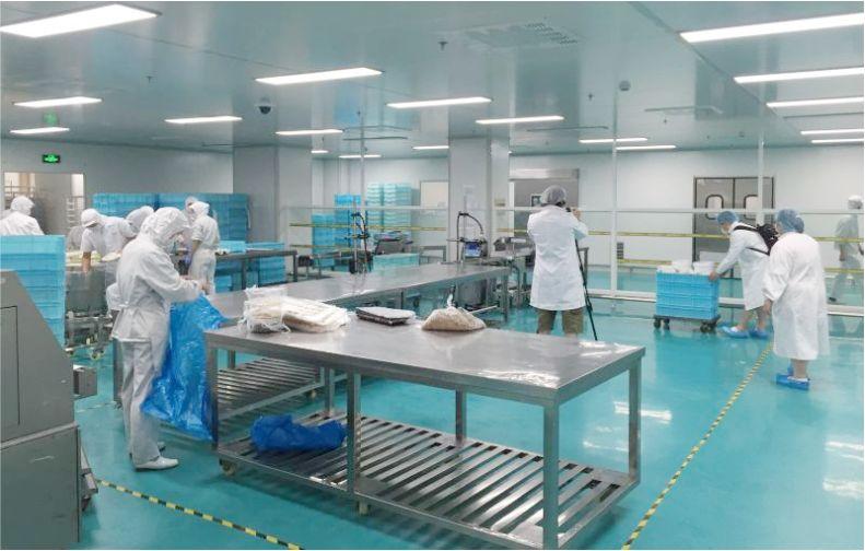中央厨房-食品无菌车间-洁净室-净化工程安装-无锡一净7