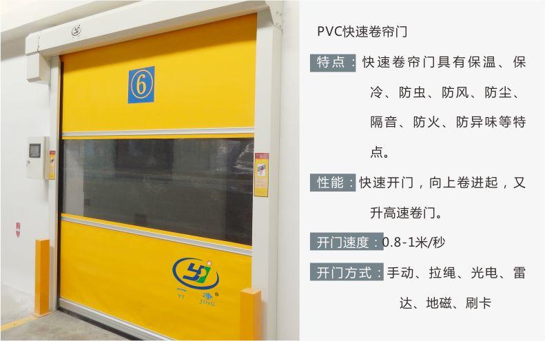 特点-PVC防碰撞快速卷帘门-无锡一净