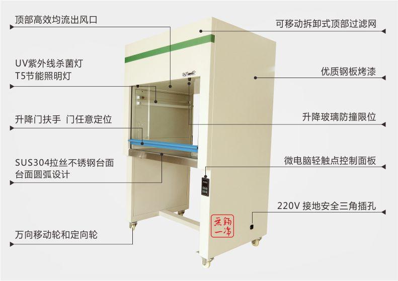 产品展示-无锡一净YJ-VS-1单人垂直工作台-无锡一净